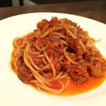イタリアン アンド ワイン チャコール - サルシッチャとンドゥイヤのスパゲティ