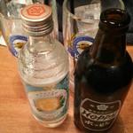 63473446 - 金宮ボトル900円、ホッピー黒そと250円