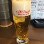 ジェイズカレー - 生中ビール