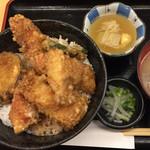 きんめ家 - ランチ きんめ天丼 ¥1000。 ちょっと高いかな。