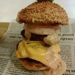カフェ楓荘 - weakend burger 1000円