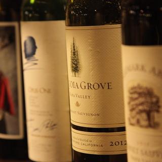 ワインは常時60種類以上