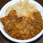焼肉弁当カルビ亭 - 豚みそ丼 580円