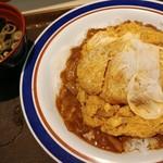 名代 富士そば - カレーカツ丼 570円