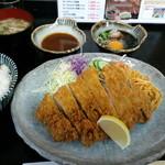 とんかつ 吉兆 - ロースとんかつ定食、デミ&おろしポン酢(2013,1)