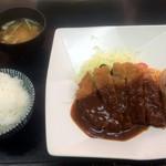 とんかつ 吉兆 - ロースとんかつ定食150g(2017,3)