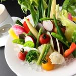 ラグシス - 新鮮野菜のガーデン風バーニャカウダ