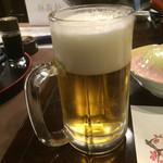 星野温泉 池の山荘 - 生ビール=620円       ちと、泡が多いんやけど