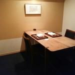 神楽坂 石かわ - 本日は綺麗の個室で
