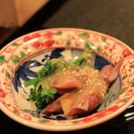 一即夛 - ホタルイカと菜の花の酢味噌あえ。ホタルイカがこんなにおいしいと思ったのは初めて!