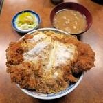 63487963 - 上カツ丼¥1100(お新香・みそ汁付)