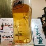 エキナカ酒場 しおつる - 生ビール 380円