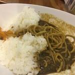 麺家 西陣 - ダムカレーラーメンの麺を掘り起こした。