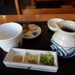 皿そば文楽 - 薬味