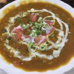 インドネパール料理 ミヤギディ - 豆カレーのアップ。彩り良い。自分的にかなり好評価。