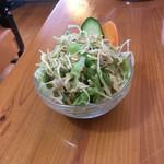 インドネパール料理 ミヤギディ - サラダ。こんもり盛られてよく冷えてます。