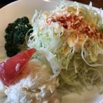 カフェドムッシュ - ★★★ ピラフのセットサラダ  たっぷりです