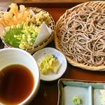 そば処アルプス - 野菜天ぷらもりセット3月