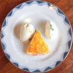 Cafe&Deli COOK - スイーツセット 850円 のみかんのチーズクリームタルトののデザートプレート