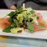 ラ・ブラスリー - ホワイトアスパラガスと生ハムのサラダ