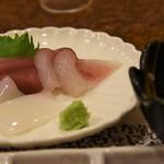 串とも - 刺身(マグロ、イカ、鯛)