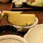串とも - とんかつ定食のデザート