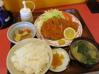 水戸屋食堂 - ジャンボとんかつ定食(¥1.050)