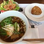 ほしカフェ - 料理写真:ラーメンセット 筑波山麓松屋製麺所