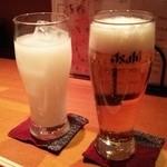 京居酒屋 シェリー - カルピスとビール