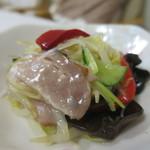 オリジン弁当 - チャーシューのネギ塩サラダアップ