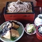 三春茶屋 - ほうろくざる(大盛り二枚+ほうろく焼二個)