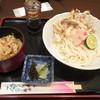 うどん忠雅堂 - 料理写真:げそ天生醤油うどん定食