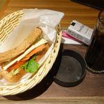 モリバコーヒー - 料理写真:B set (サーモンクリームチーズ) 390円
