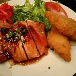 和菜房 the kitchen 晴 - 若鶏の照り焼き+白身魚のフライ