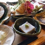 とき庵 - 蕎麦豆腐