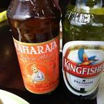 63524658 - (2017年3月 訪問)インドビール2種。お店の方は画像右のKINGFISHERが美味しいと言ってたけど左のMAHARAJAも美味しかったです。