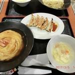 火道 - カニ玉チャーハン餃子セット