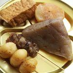 白猪屋酒店 - しっかりと猪肉の出汁がしみ込んでいます(各104円)