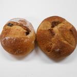 63527731 - レーズンパン100円とくるみパン100円