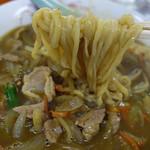 蝦夷 - カレーラーメンの麺