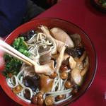 もろやま 田中屋 - 料理写真:きのこそばだったかなー。きのこが大きい