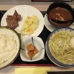 仙臺杜の牛たんカレー - 牛たんセット+ミニカレー
