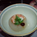 ryouteioomiyaichinoya - <炊き合わせ> 風呂吹き大根、海老、木の芽