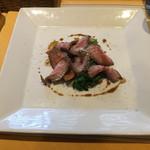 トラットリア ボーノボーノ - ローストビーフ、焼き野菜添え+¥500円ヽ(*^ω.^*)w