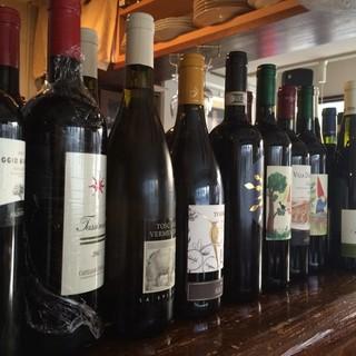 厳選イタリアワインとそのグラス