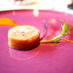 リョウリヤ ステファン パンテル - 料理写真:スペシャリテ フォアグラのコンフィ 奈良漬け巻き マンゴーのソース