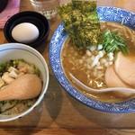 63533340 - 濃厚醤油鶏白湯そば+卵かけご飯