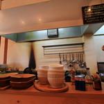 ペロリ - カウンターから見た厨房