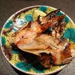 魚貝三昧 げん屋 - 車エビ頭の塩焼き
