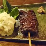 63540953 - 牛ハラミ串焼(ポテトサラダ付)